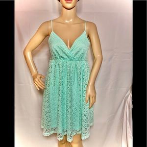 Express Aqua Lace Summer Dress Small